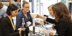 Atelier vin avec public féminin