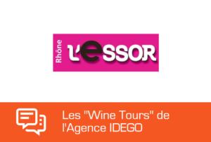 Article de l'Essor sur les visites de vignobles par l'agence IDEGO