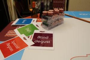 Activité sur l'oenologie : quizz, dégustation vin, spécialité culinaire, défi