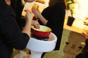 Arbre à fondue pour soirées entreprises conviviales à Lyon