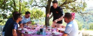 Organisation déjeuner éphémère dans les vignobles de la vallée du rhone
