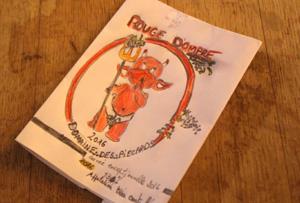 étiquette de vin dessinée par des participants d'une animation IDEGO