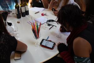 design d'une étiquette de vin