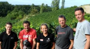 famille de Romain bonnard, vigneron partenaire d'IDEGO