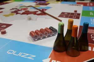 Jeu oenologique avec table de jeu esprit casino des vins
