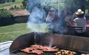 Barbecue estival dans un domaine