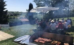 Barbecue dans un domaine du Beaujolais