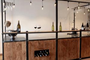 Bar à vin pour dégustation par l'agence IDEGO à Lyon