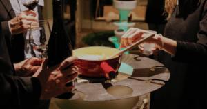 animation fondue IDEGO pour cocktail entreprise à Lyon