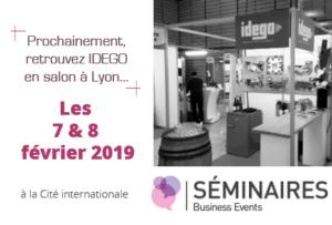Stand IDEGO au Salon SBE à Lyon les 7 et 8 janvier 2019