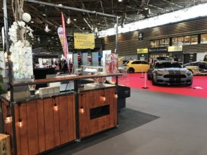 bar à vin sur le salon de l'automobile de Lyon 2019